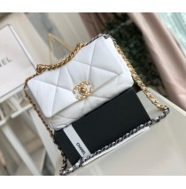 Chanel 19 Small Flap Bag C1160-white