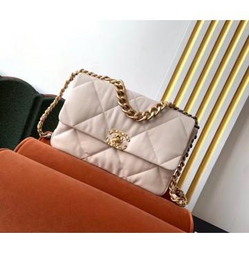 Chanel 19 Large Flap Bag C1161-beige