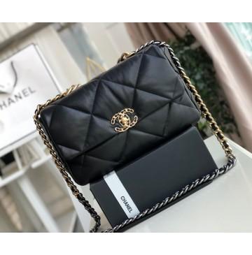 Chanel 19 Large Flap Bag C1161-black