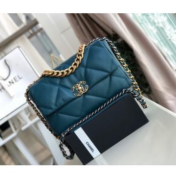 Chanel 19 Large Flap Bag C1161-blue