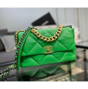 Chanel 19 Large Flap Bag C1161-green