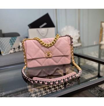 Chanel 19 Large Flap Bag C1161-pink