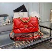 Chanel 19 Large Flap Bag C1161-red
