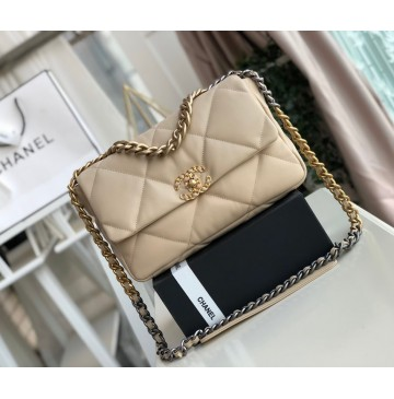 Chanel 19 Large Flap Bag C1161-tan