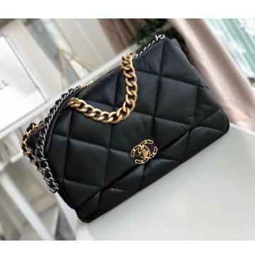 Chanel 19 Maxi Flap Bag C1162-black