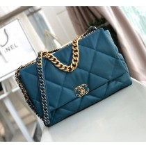 Chanel 19 Maxi Flap Bag C1162-blue