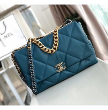 Chanel 19 Maxi Flap Bag C1162-blue