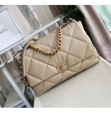 Chanel 19 Maxi Flap Bag C1162-tan