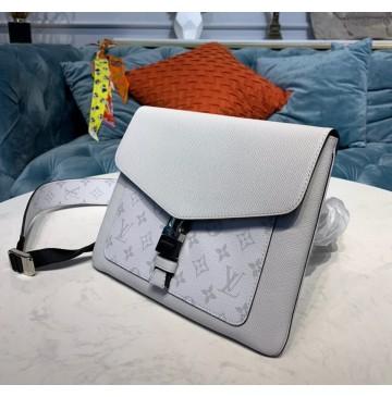 Louis Vuitton Monogram Eclipse Outdoor Flap Messenger Antartica M30411