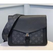 Louis Vuitton Monogram Eclipse Outdoor Flap Messenger Black M30413