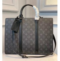 Louis Vuitton Monogram Eclipse Sac Plat Horizontal Zippe M45265