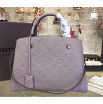 Louis Vuitton Monogram Empreinte Montaigne MM M41048-gray