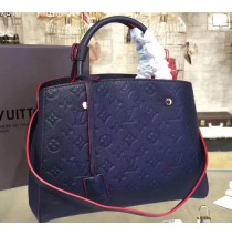 Louis Vuitton Monogram Empreinte Montaigne MM M41048-navy-blue