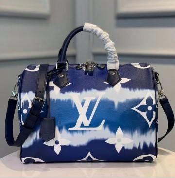 Louis Vuitton Escale Speedy Bandouliere 30 Blue M45146