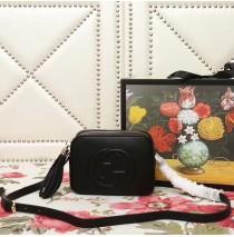 Gucci Soho Small Leather Disco Bag GU308364-black