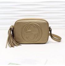 Gucci Soho Small Leather Disco Bag GU308364-champagne-gold