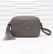 Gucci Soho Small Leather Disco Bag GU308364-gray