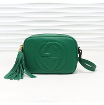 Gucci Soho Small Leather Disco Bag GU308364-green