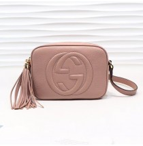 Gucci Soho Small Leather Disco Bag GU308364-light-pink