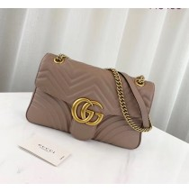 Gucci Medium GG Marmont Matelasse Shoulder Bag Tan