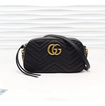 Gucci GG Marmont small matelasse shoulder bag GU447632A-black