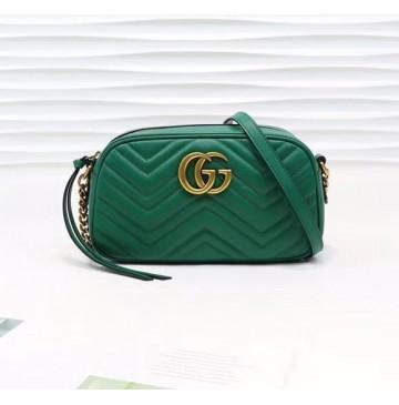 Gucci GG Marmont small matelasse shoulder bag GU447632A-green