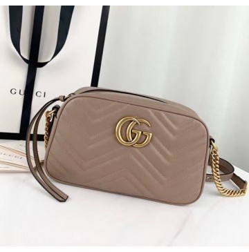 Gucci GG Marmont small matelasse shoulder bag GU447632A-tan