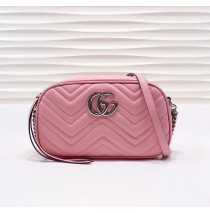 Gucci GG Marmont small matelasse shoulder bag GU447632B-pink