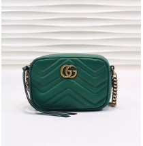 Gucci GG Marmont Matelasse Mini Bag GU448065A-green