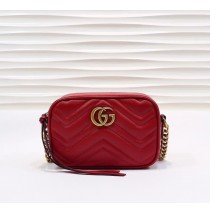 Gucci GG Marmont Matelasse Mini Bag GU448065A-red