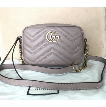Gucci GG Marmont Matelasse Mini Bag GU448065A-tan