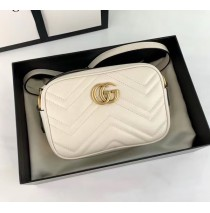 Gucci GG Marmont Matelasse Mini Bag GU448065A-white