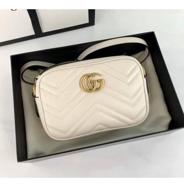 Gucci GG Marmont Matelasse Mini Bag GU448065A-white
