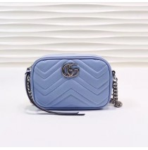 Gucci GG Marmont Matelasse Mini Bag GU448065B-blue
