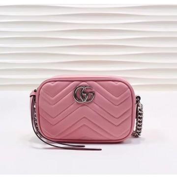 Gucci GG Marmont Matelasse Mini Bag GU448065B-pink