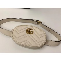 Gucci GG Marmont Matelasse Leather Belt Bag GU476434-beige