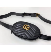 Gucci GG Marmont Matelasse Leather Belt Bag GU476434-black