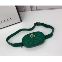 Gucci GG Marmont Matelasse Leather Belt Bag GU476434-green