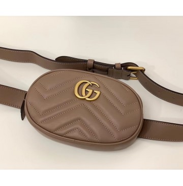 Gucci GG Marmont Matelasse Leather Belt Bag GU476434-tan
