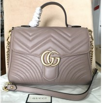 GG Marmont small Tan top handle bag
