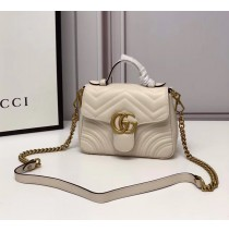 Gucci GG Marmont Mini Top Handle Bag GU547260-beige