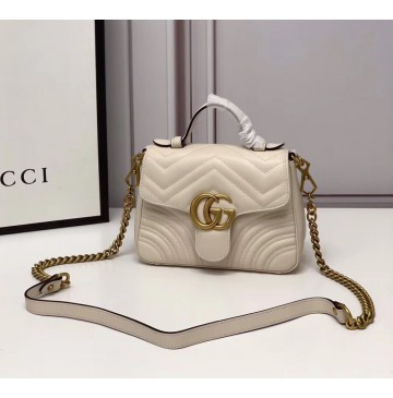 Gucci GG Marmont Mini Top Handle Bag GU547260-beige