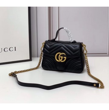 Gucci GG Marmont Mini Top Handle Bag GU547260-black
