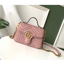 Gucci GG Marmont Mini Top Handle Bag GU547260-pink