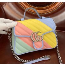 Gucci GG Marmont Mini Top Handle Bag GU547260-rainbow