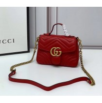 Gucci GG Marmont Mini Top Handle Bag GU547260-red