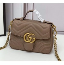 Gucci GG Marmont Mini Top Handle Bag GU547260-tan
