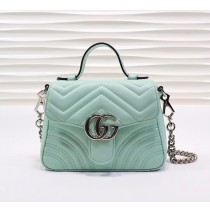 Gucci GG Marmont Mini Top Handle Bag GU547260B-light-green