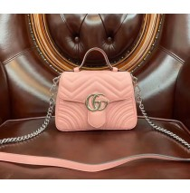 Gucci GG Marmont Mini Top Handle Bag GU547260B-pink