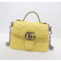 Gucci GG Marmont Mini Top Handle Bag GU547260B-yellow